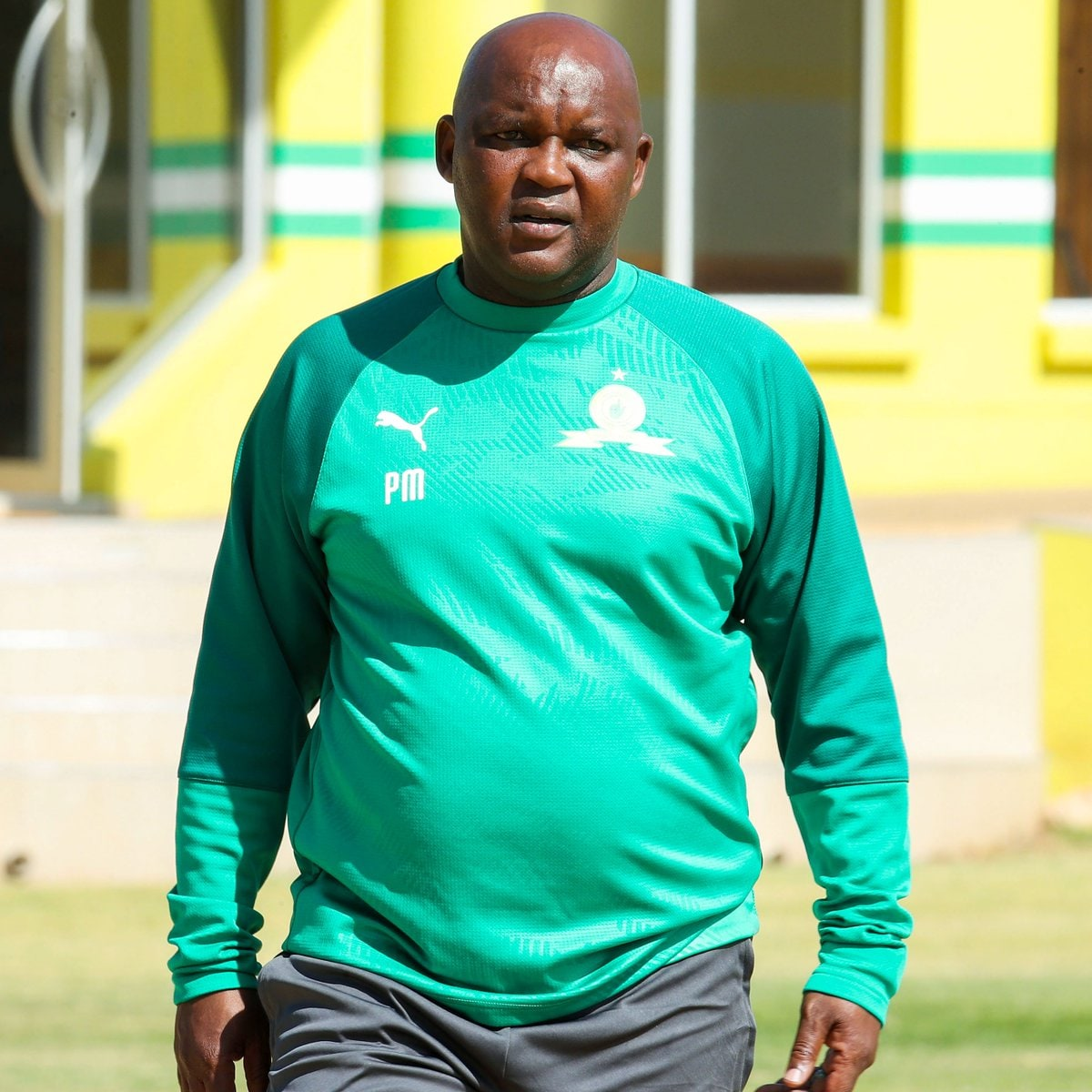 Pitso Mosimane escorted by police after trying to cause drama