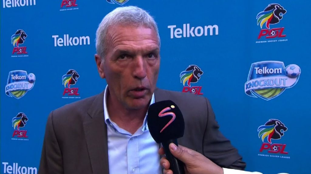 The confrontation between Ernst Middendorp and Pitso Mosimane