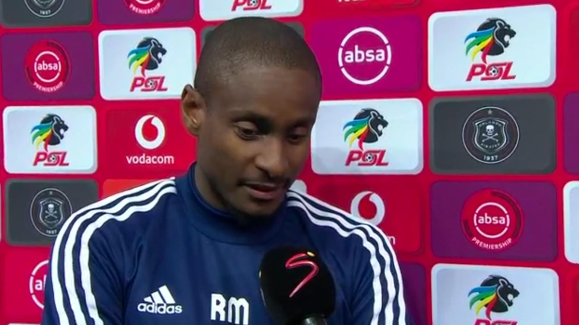 Rhulani Mokwena left Orlando Pirates