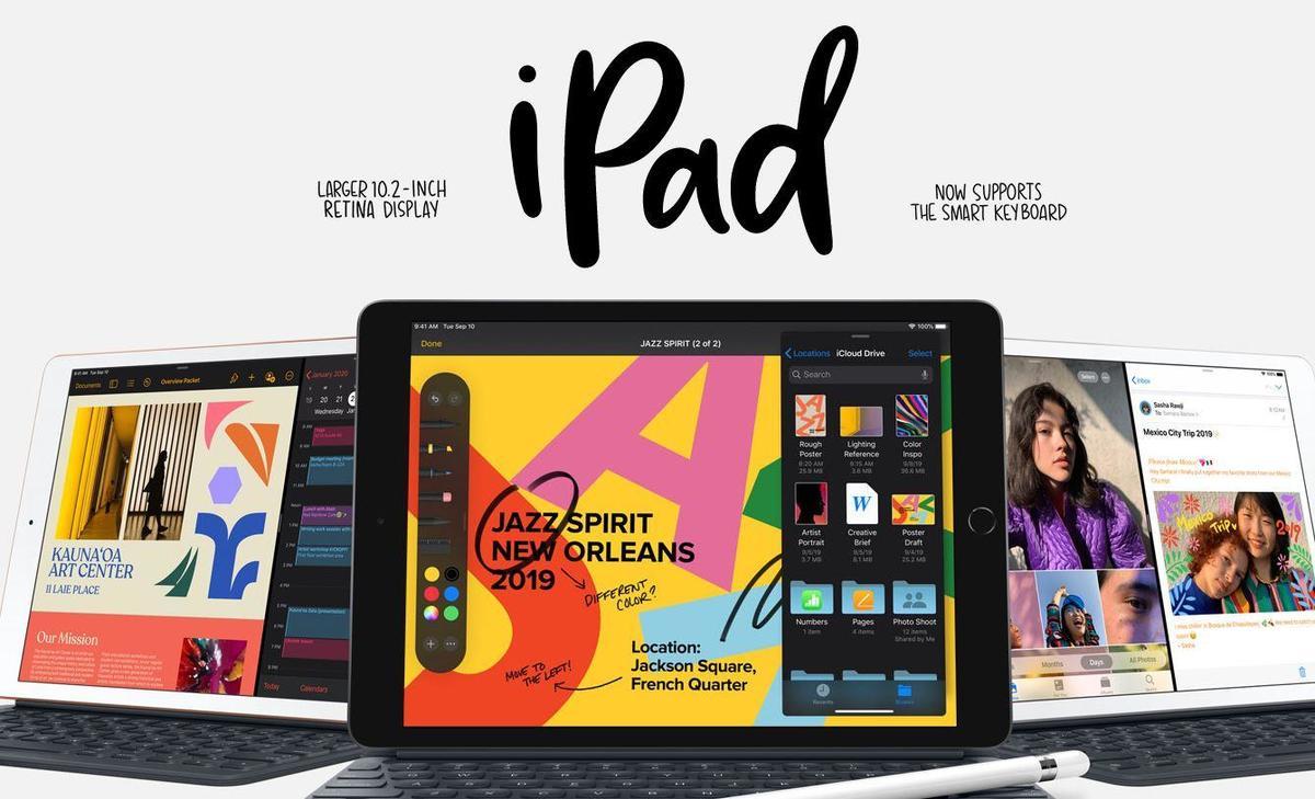 The new iPad larger 10.2 inch retina display