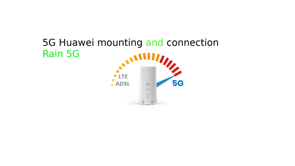 how to set up Rain 5g huaweiOutdoor CPE Router modem and mount it on the roof