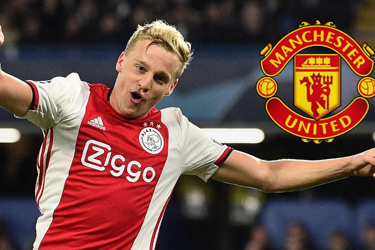 Manchester United agree £40m fee for Donny van de Beek