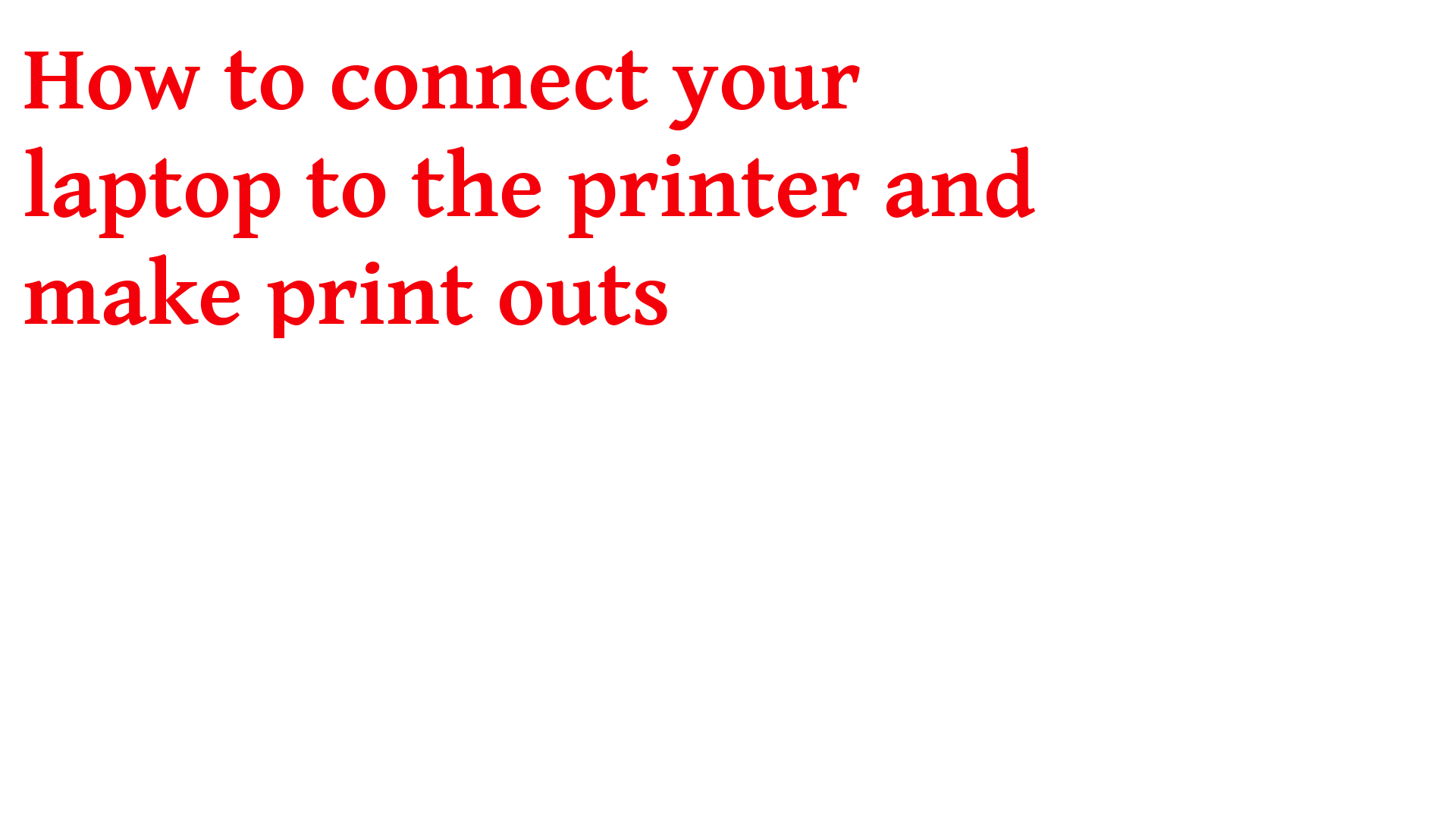 How to connect your laptop to the printer olivetti