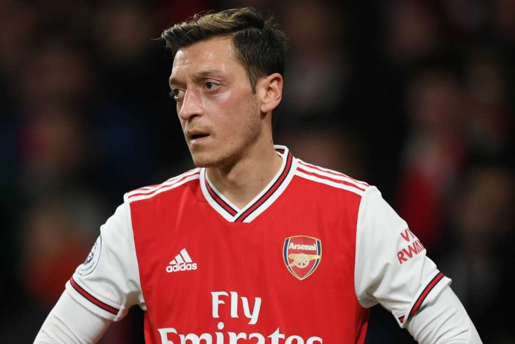 Mesut Ozil has been left out of Arsenal's Premier League and Europa League squads