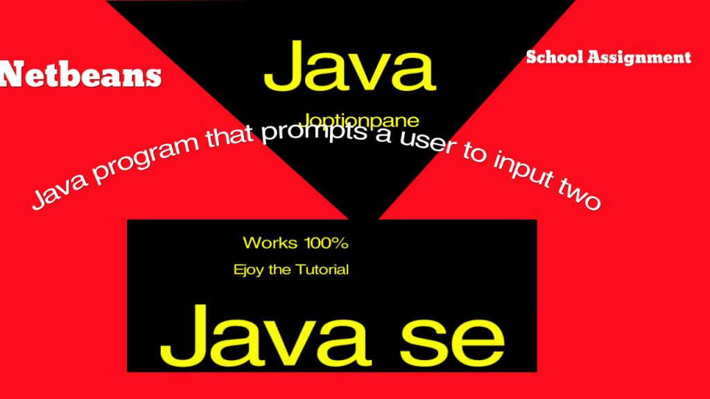 Write a complete Java program that prompts the user to input two integer values and outputs the largest and smallest numbers.