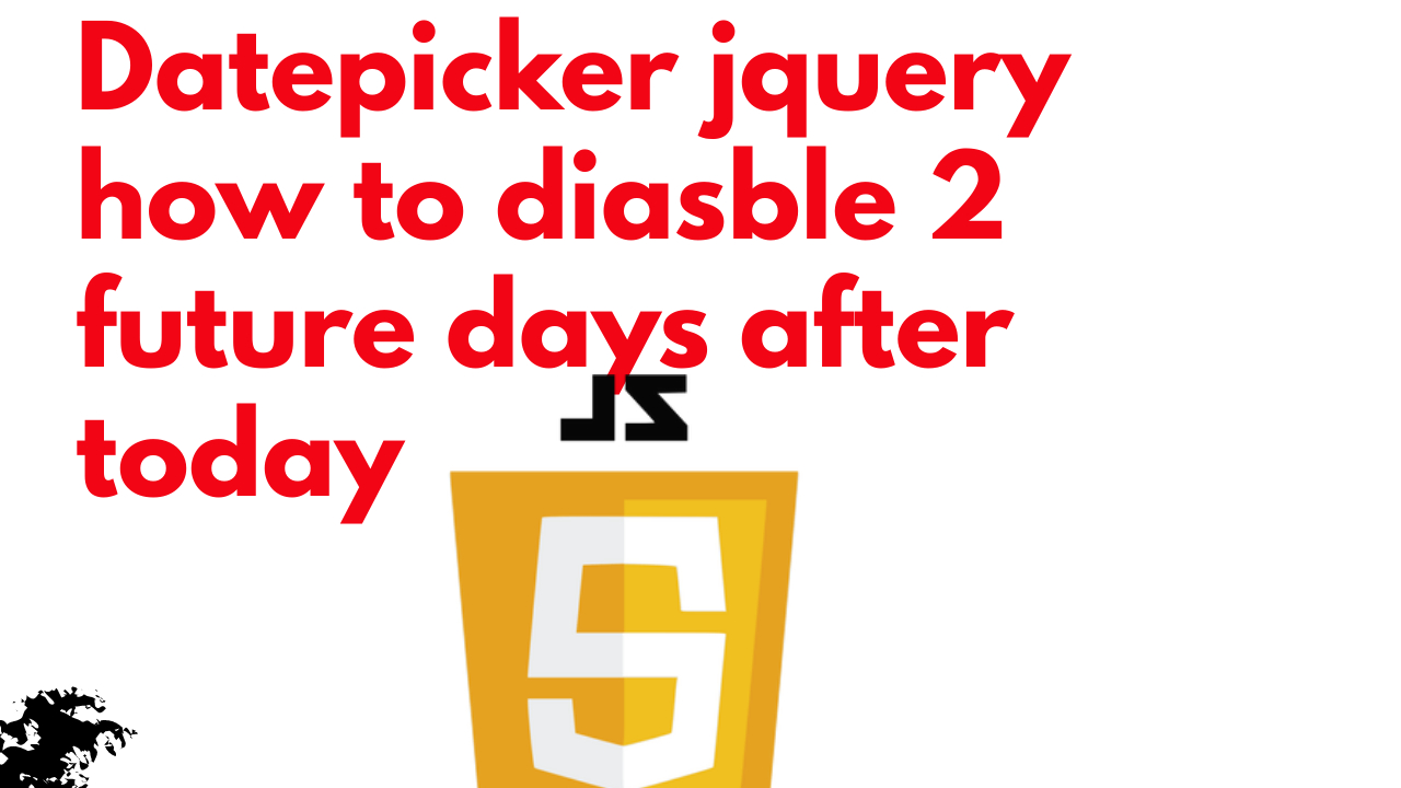 Datepicker jquery how to diasble 2 future days after today