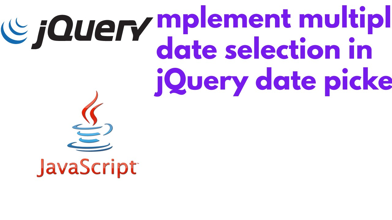 How to implement multiple date selection in jQuery date picker